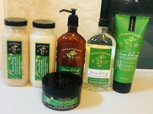 Bath & Body Works Aromatherapy Stress Relief Eucalyptus Spearmint Cream Lotion 1