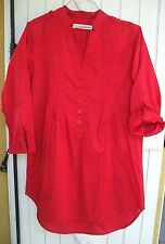 chemise longue taille 38/40 marque Jennyfer rouge