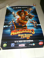 AFFICHE MADAGASCAR 3 Dreamworks 4x6 ft Bus Shelter Original Movie Poster 2012