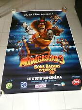 AFFICHE MADAGASCAR 3 Dreamworks 4x6 ft Bus Shelter Original Movie Poster 2012