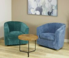 Contemporary Hand Crafted Allen Swivel Chair Upholstered Living Room Furniture