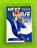 LUKA DONCIC ROOKIE CARD JERSEY #77 MAVERICKS RC 2018-19 Panini THREADS NEXT WAVE