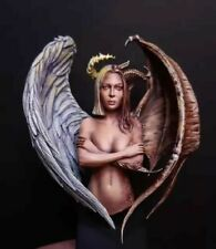 1/10 BUST Resin Figure Model Kit Beautiful Sexy Girl Angel Demon Unpainted