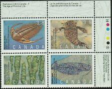Canada sc#1282a Prehistoric Life in Canada - 1, UR CBN Plate Block N°1, Mint-NH