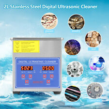Stainless Steel 2L Industry Heated Ultrasonic Cleaner Heater Timer Ultra Sonic