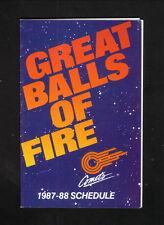 Kansas City Comets--1987-88 Pocket Schedule--Budweiser--MISL