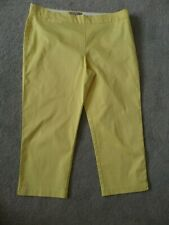 M&S COLLECTION SIZE 14 SUMMERY YELLOW CROPPED CAPRI PANTS