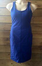 Women's FRONT ZIP UP DRESS ROUND NECK SLEEK Bodycon Dress Size 10 SMALL