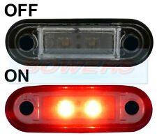HELLA TYPE LED FLUSH FIT KELSA LIGHT BAR MARKER LAMP LIGHT 12v 24v RED LAML002