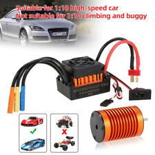 9T Brushless Motor + 60A ESC Speed Controller Combo For 1/10 RC Car Truck Model