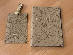 Via Lorenzo N 26 Collection Faux Leather Passport Case And luggage Tag New
