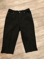 NWOT Ralph Lauren black Classic Womens Jeans Sz 16W cotton cropped