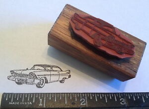 1957 Plymouth FURY two door coupe Car RUBBER STAMP Chrysler & Mopar 1958