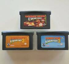 3x Donkey Kong Country: 1, 2, 3 Gameboy GBA/SP/DS Games