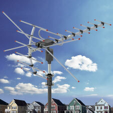 New listing Longest Range Outdoor Hd Tv Antenna Amplified High Gain Uhf Vhf Free Shipping
