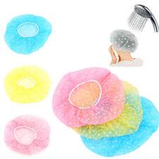 6Pc Unisex Waterproof Elastic Plastic Dot Shower Bathing Salon Hair Care Cap Hat
