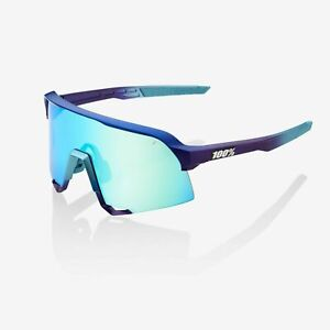 100% S3 Matte Metallic Into the Fade Cycling Sunglasses - Blue Topaz Multilayer