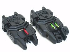 A.P.S. Airsoft Toy Rhino Rear & Front Sight With Fiber Optic (Black) A-Gg047B