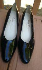 """Salvatore Ferragamo Black Patent Leather Shoes/Pumps 2"""" Heel - Women's 8 1/2 3A"""