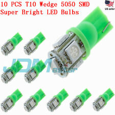 JDM ASTAR 10x T10 5050 SMD Green LED Car Interior Map Lights Bulbs 194 168 2825
