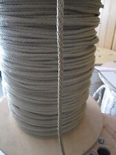 "Gaff Line,anchor rope, docline 3/16""  X 100' Tan Polyester 820 lb  USA"