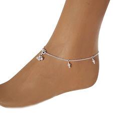 Fußkettchen Mondstein Silber 925 zarte Fußkette Anklet Sterling Silver  2msts