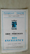 PICCADILLY THEATRE 1950 - ERIC PORTMAN in HIS EXCELLENCY