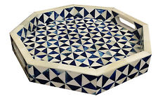 Handicrafts Home 12x12 Octagon Multi Decorative Tray Breakfast Coffee Table Top