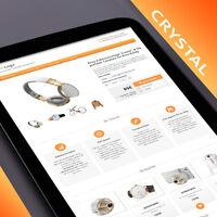 Ebay Templates ★ CRYSTAL Responsive Ebay Vorlage 2020 orange + Html Editor