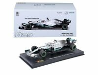 BURAGO 38049 MERCEDES AMG W10 EQ POWER+ F1 model car Lewis Hamilton 1:43