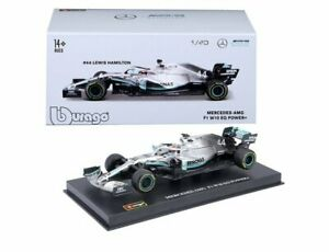 BURAGO 38049 MERCEDES AMG W10 EQ POWER+ F1 model car Lewis Hamilton 1:43
