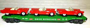K-Line 691-5101 Coca Cola Thunderbird Flat Car