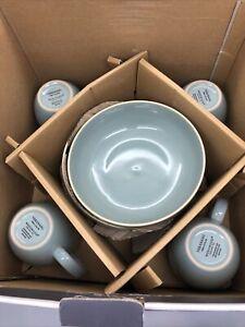 Vera Wang Wedgwood Vera Colors 15-Piece Dinnerware Set in Teal - Missing 1 Bowl