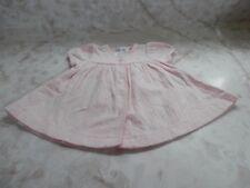 Baby Girl 3 Months Ralph Lauren Pink Snap Up Short Sleeve Cotton Dress