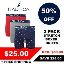 Nautica Men'S 3 упаковка из разных стрейч трусы (розница $50)