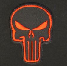 PUNISHER SKULL USA ARMY BADGE BLACK OPS RED VELCRO® BRAND FASTENER PATCH
