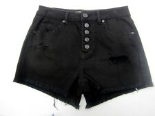 NWT Refuge Distressed 5 Button Denim Shorts Cheeky HiRise Charlotte Russe Size2
