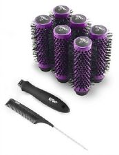 Kodo LOCK AND ROLL Blowdry Click In Brush Set 6 x 35mm Brushes - PURPLE 35mm