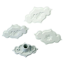 PME Set Of 4 Icing Cake Decorating Creative Plaque Rose & Rose Spray Inserts