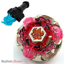 Fusion METAL Beyblade Masters Gravity Perseus BB80 4D+BLUE SPIN LAUNCHER+GRIP