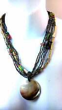 MULTI COLOUR AND BEADED CHUNKY SHELL NECKLACE - SR