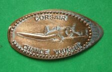 Corsair Chance Vought elongated penny Usa cent Flying Machines Series coin