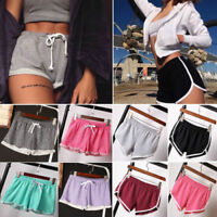 Women Sports Shorts Casual Ladies Beach Summer Running Gym Yoga Hot Pants Size 6