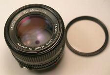 Canon FD 50mm f1.4 manual focus lens Near Mint
