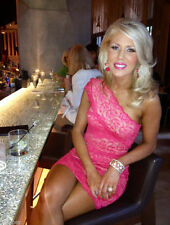 Bebe Pink Mixed Lace One Shoulder Bodycon Bandage Party Dress Sz XS NWT