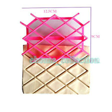 Diamond Rhombus Stampo Imbottitura Quilted Cake Fondant Cutter Embossing Mould