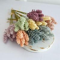 6Pcs/Pack Artificial Vanilla Mini Foam Berry Spike Artificial Flower Bouquet New