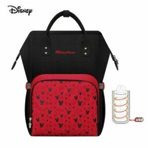 Disney Mickey Mouse Wickelrucksack Mama Backpack Baby Diaper Bag USB