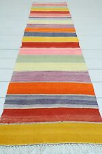 "Turkish Kilim Runner Rugs, Carpet Runner, Hallway Rug, Corridor Runner 22""X88"""