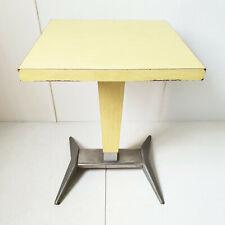 TABLE DE BISTROT BAR 1950 VINTAGE FORMICA & ALUMINIUM 50S 50'S ANNEES 50